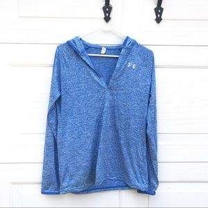 Under Armour Loose Fit Women's Blue Hooded Shirt